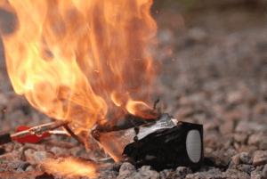 lipo battery fire